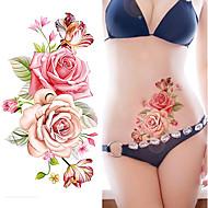 1 타투 스티커 꽃 시리즈 패턴여성 남성 플래시 문신 임시 문신