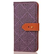 preiswerte Handyhüllen-Hülle Für LG G3 LG LG G5 LG G4 Kreditkartenfächer Geldbeutel mit Halterung Flipbare Hülle Muster Geprägt Ganzkörper-Gehäuse Blume Hart