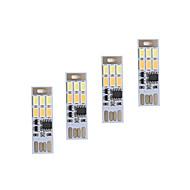 brelong dimming USB 3w 6x5730 nattlys trykk på bryteren berøring dobbel lys farge (DC5V) 4 stk