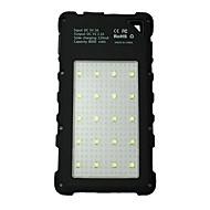 Недорогие Портативные аккумуляторы-Power Bank Внешняя батарея 5V 2.0A #A Зарядное устройство Подсветка Несколько разъемов Зарядка от солнца Защита от влаги LED
