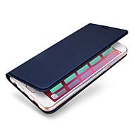Для Бумажник для карт Флип Магнитный Кейс для Чехол Кейс для Один цвет Твердый Искусственная кожа для SamsungA3 (2017) A5 (2017) A7