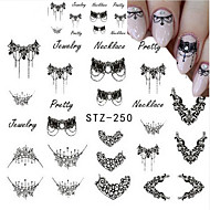 5pcs/set Nail Art matrica Víz Transfer Matricák smink Kozmetika Nail Art Design