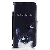 Недорогие Чехлы и кейсы для Galaxy A5(2016)-Кейс для Назначение SSamsung Galaxy A5(2017) A3(2017) Бумажник для карт Кошелек со стендом Флип С узором Чехол С собакой Твердый Кожа PU