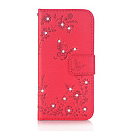 Недорогие Чехлы и кейсы для Galaxy J3(2016)-Кейс для Назначение SSamsung Galaxy J5 (2016) J3 (2016) Бумажник для карт Кошелек Стразы со стендом Флип Магнитный С узором Рельефный