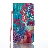 preiswerte -Hülle Für Huawei Kreditkartenfächer Geldbeutel mit Halterung Flipbare Hülle Muster Ganzkörper-Gehäuse Blume Hart PU-Leder für P8 Lite
