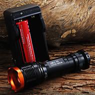 LED Lommelygter Lommelygter LED 1800 Lumen 5 Tilstand Cree XM-L T6 18650 Justerbart Fokus Zoombar Taktisk Camping/Vandring/Grotte