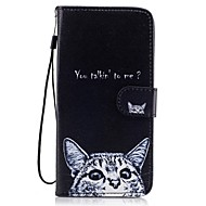 Недорогие Чехлы и кейсы для Galaxy S8 Plus-Кейс для Назначение SSamsung Galaxy S8 Plus S8 Бумажник для карт Кошелек со стендом Флип С узором Чехол Кот Твердый Кожа PU для S8 Plus