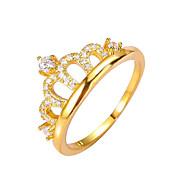 Bandringe Ring Modisch Vintage Kupfer Kronenform Gold Schmuck Für Hochzeit Party Verlobung 1 Stück