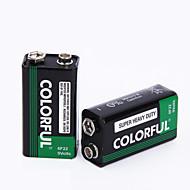 színes 9V cink szárazelem elem 9V 10 pack