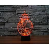 Недорогие Интеллектуальные огни-bb - 8 ball robot 3 d проекционная лампа светодиодный акриловый сенсорный свет