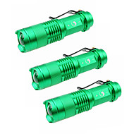 U'King LED Flashlights / Torch LED 1500 lm 3 Mode Cree XP-E R2 Zoomable Adjustable Focus Camping/Hiking/Caving Everyday Use Outdoor