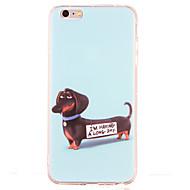 Для Защита от удара С узором Кейс для Задняя крышка Кейс для С собакой Мягкий TPU для AppleiPhone 6s Plus iPhone 6 Plus iPhone 6s Айфон 6