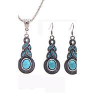 abordables Turquesa-Mujer Turquesa Conjunto de joyas - Diseño Único Incluir Azul Para Boda Fiesta Ocasión especial