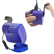 abordables Grandes Ofertas-USB de la manivela del teléfono celular dínamo manual de emergencia cargador para MP3 MP4 móvil pda-- azul