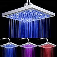 Top Spray Dusjhode Med Tricolor Lysende Fargetemperaturen / 8 Inch Vann Booster Toppendusj (Abs Plating)