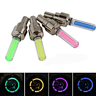 Bike Glow Lights LED - Cycling Suitable for Vehicles Easy Carrying Button Battery Lumens Battery Blue Red Green Yellow Cycling/Bike
