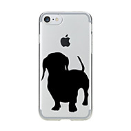 abordables Ofertas de Hoy-Funda Para Apple iPhone 7 Plus iPhone 7 Transparente Diseños Funda Trasera Perro Suave TPU para iPhone 7 Plus iPhone 7 iPhone 6s Plus