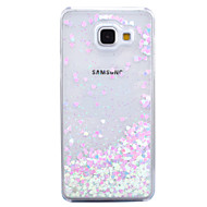 Mert Folyékony Átlátszó Case Hátlap Case Csillámpor Kemény PC mert Samsung A7(2016) A5(2016)