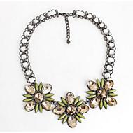 Жен. Ожерелья-цепочки В форме цветка Синтетические драгоценные камни Цветочный дизайн Цветы Цветочный принт Euramerican Бижутерия