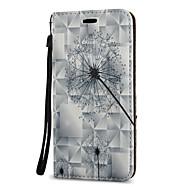 Недорогие Чехлы и кейсы для Galaxy A7(2017)-Кейс для Назначение SSamsung Galaxy A5(2017) A3(2017) Бумажник для карт со стендом Флип С узором Магнитный Чехол одуванчик Твердый