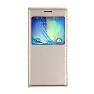 Case Kompatibilitás Samsung Galaxy A5(2017) A3(2017) Betekintő ablakkal Automatikus készenlét / ébresztés Flip Teljes védelem Tömör szín