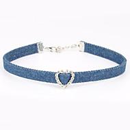 Damen Halsketten Kristall Stoff Einzigartiges Design individualisiert Hellblau Schmuck Für Geburtstag Verlobung Alltag Normal Sport1