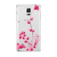 abordables Galaxy Note 2 Carcasas / Fundas-Funda Para Samsung Galaxy Transparente Diseños Funda Trasera Flor Suave TPU para Note 5 Note 4 Note 3 Note 2