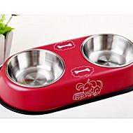 강아지 먹이 애완동물 그릇 & 수유 베이지 레드