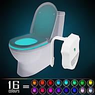ywxlight® ip65 16 색 모션 활성화 화장실 야간 조명 모든 화장실 방수 욕실 야간 조명 간편한 청소 - 자정 편의