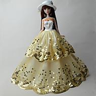 abordables -Fiesta / Noche Vestidos por Barbiedoll Organdí / Lentejuela Vestido por Chica de muñeca de juguete