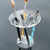 billige Opbevaring til skrivebordet-Tekstil Plast Oval Plastik Rejse Transparent Brush Holder Hjem Organisation, 1pc Plastik Skrivebordsorganisere Makeup Opbevaring
