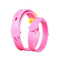 お買い得  -ネコ 犬 カラー 調整可能 / 引き込み式 防水 ソリッド シリコーン ピンク