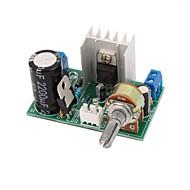 保護付きlm317電源基板プレート1.25v-37v 1.5A連続可変DC電圧レギュレータ