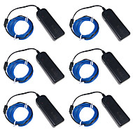 billige LED-stribelys-3W W Fleksible LED-lysstriber 250 lm <5V 3 m leds Rød Blå Grøn