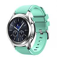 Недорогие Аксессуары для смарт-часов-Ремешок для часов для Gear S3 Classic Samsung Galaxy Спортивный ремешок силиконовый Повязка на запястье