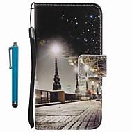 Недорогие Чехлы и кейсы для Galaxy A3(2016)-Кейс для Назначение SSamsung Galaxy A5(2016) A3(2016) Бумажник для карт Кошелек со стендом Чехол Вид на город Твердый Кожа PU для