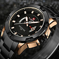 cheap Dress Watches-NAVIFORCE Men's Sport Watch / Military Watch / Wrist Watch Japanese Calendar / date / day / Water Resistant / Water Proof / Creative Stainless Steel Band Charm / Luxury / Vintage Black / Silver