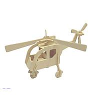 halpa Harrastukset-3D palapeli Palapeli Puiset palapelit Puumalli Helikopteri Lelut Helikopteri 3D Puu Unisex Pieces