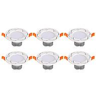 billige Downlights-3W 6 lysdioder Let Instalation Forsænket LED nedlys Varm hvid Kold hvid AC 85-265V