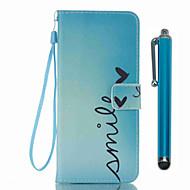 billige -Etui Til Samsung Galaxy S8 Plus S8 Kortholder Lommebok med stativ Flipp Mønster Heldekkende etui Ord / setning Hard PU Leather til S8