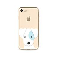 Недорогие Сегодняшнее предложение-Кейс для Назначение Apple iPhone X iPhone 8 Plus Прозрачный С узором Задняя крышка С собакой Мягкий TPU для iPhone X iPhone 8 Plus iPhone