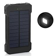 Недорогие Портативные аккумуляторы-6000mAh Power Bank Внешняя батарея 5V 1.0A 2.0AA Зарядное устройство Подсветка Несколько разъемов Зарядка от солнца Очень тонкий