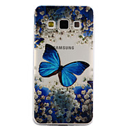 Недорогие Чехлы и кейсы для Galaxy A3(2017)-Кейс для Назначение SSamsung Galaxy A5(2017) A3(2017) Прозрачный С узором Рельефный Кейс на заднюю панель Бабочка Мягкий ТПУ для A3