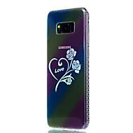 Для samsung galaxy s8 plus s8 чехол покрытие металлизированный полупрозрачный рисунок задняя крышка цветок soft tpu s7 edge s7