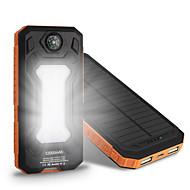 10000mAh banco de la energía de la batería externa 5V 1.0A 2.0AA Cargador de batería Multisalida Carga Solar Corriente con Ajuste