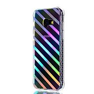 Недорогие Чехлы и кейсы для Galaxy A5(2017)-Кейс для Назначение SSamsung Galaxy A5(2017) A3(2017) Защита от удара Покрытие Полупрозрачный С узором Задняя крышка Полосы / волосы