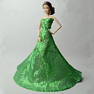 abordables -Fiesta / Noche Vestidos por Barbiedoll Organdí / Lentejuela Esmoquin por Chica de muñeca de juguete