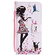 Недорогие Чехлы и кейсы для Galaxy S8 Plus-Кейс для Назначение SSamsung Galaxy S8 Plus S8 Бумажник для карт Кошелек со стендом Флип С узором Чехол Соблазнительная девушка Твердый