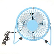 360 graden roterende usb kleine ventilator mini fan 4 inch aluminium studenten ultra-stille usb fan