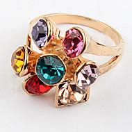 Муж. Жен. Классические кольца Кольцо Стразы Базовый дизайн Уникальный дизайн С логотипом Цветочный дизайн Цветы Дружба Симпатичные Стиль